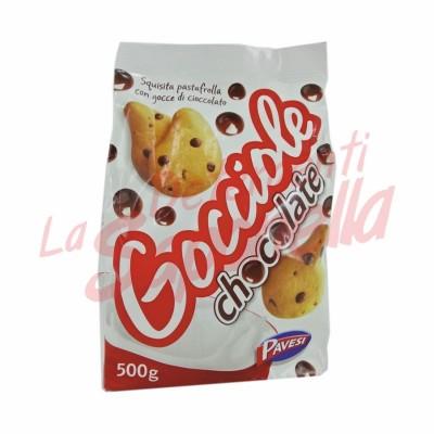 Biscuiti Pavesi cu bucati de ciocolata 500 gr