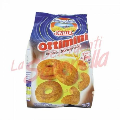 """Biscuiti integrali Divella """"Ottimini"""" cu oua proaspete 400 g"""