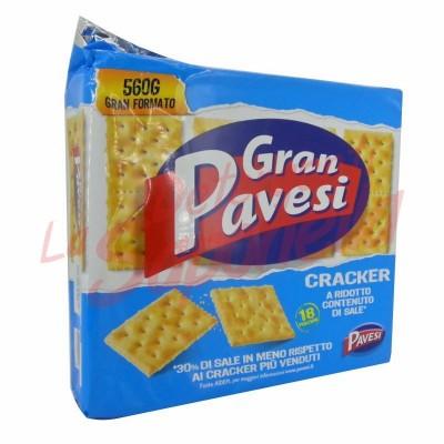 Crackers Gran Pavesi cu continut redus de sare 560 gr-18 pachete