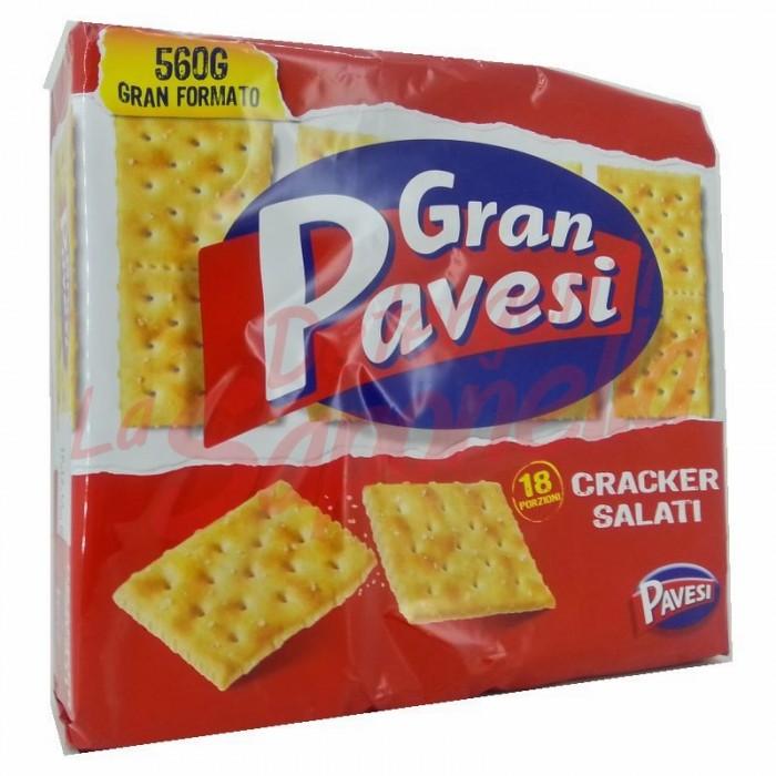 Crackers Gran Pavesi  sarati 560 gr-18 pachete