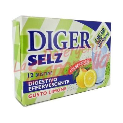 Digestiv Diger Selz efervescent cu aroma de lamaie 42 gr-12 plicuri