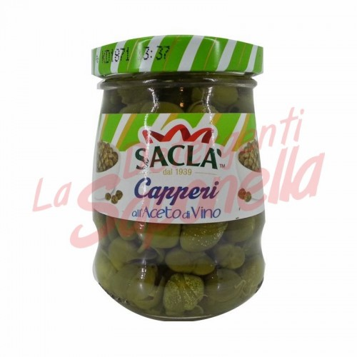 Capere Sacla in otet de vin 95 gr
