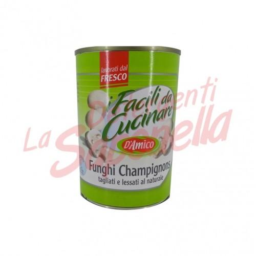 "Ciuperci D'Amico ""Champignons"" taiate si fierte in saramura 400 gr"