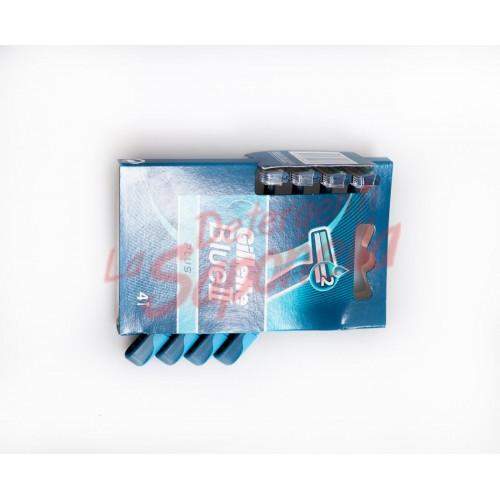Aparate de ras Gillette de unica folosinta Blue II Plus - 4 bucati