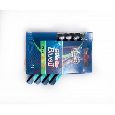 Aparate de ras Gillette de unica folosinta Blue II Plus Slalom - 4 bucati