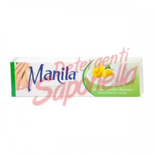Crema de maini Manila pentru piele normala cu glicerina naturala si alantoina cu parfum de lamaie 100 ml