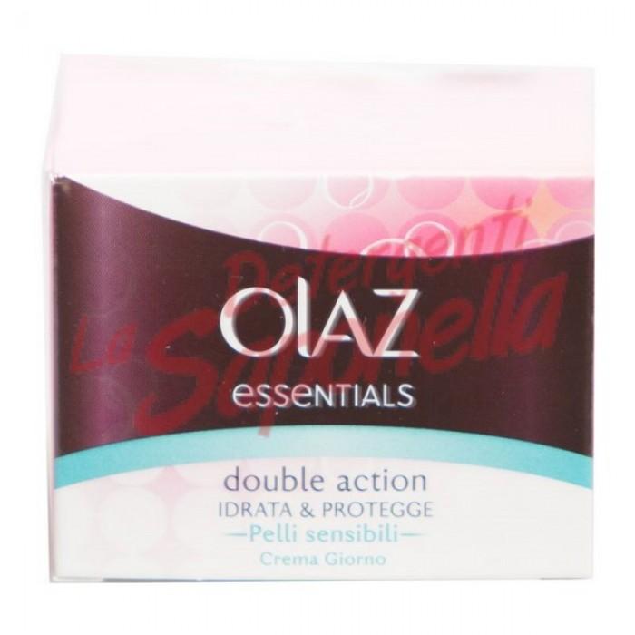 Crema fata Olaz de zi cu actiune dubla hidrateaza si protejeaza pentru ten sensibil Essential 50 ml