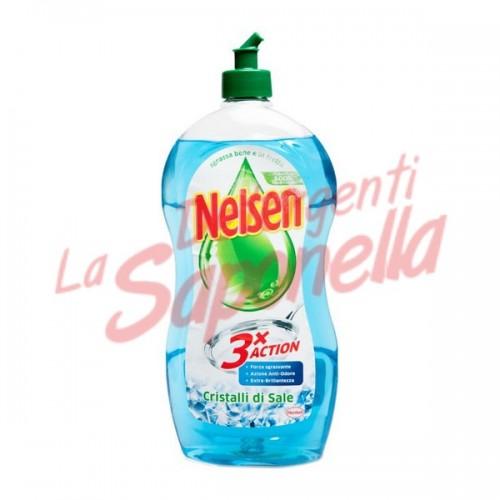 Detergent de vase Nelsen cu cristale de sare 900 ml