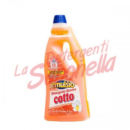 Detergent pardoseala Emulsio teracota, caramida cu ulei pur de in 750 ml-13 spalari