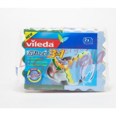 Bureti Vileda 3 in 1 100% microfibre -2 bucati