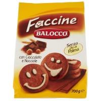 Biscuiti Balocco Faccine cu ciocolata si alune 700gr