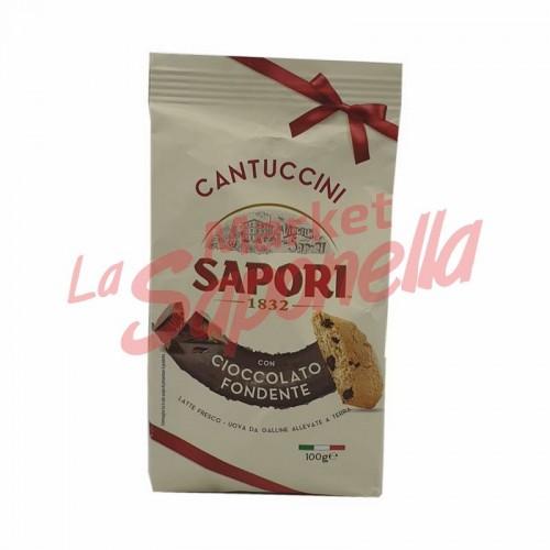 Biuscuiti Cantuccini Sapori cu ciocolata 100 gr