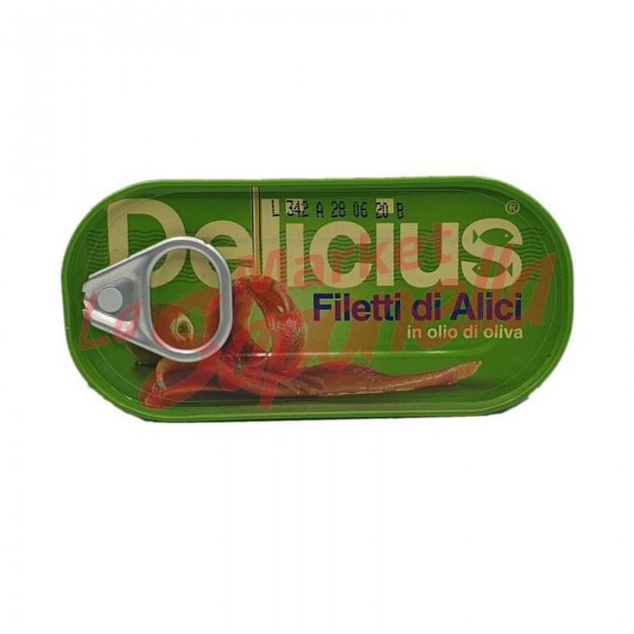 Anchoa file Delicius in ulei de masline 46 gr