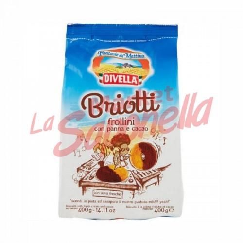 Biscuiti Divella Briotti cu cacao 400 gr