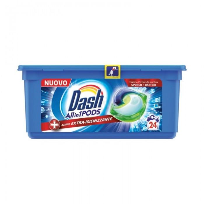Detergent pernute Dash igienizant 3 in 1 24 buc  672 g