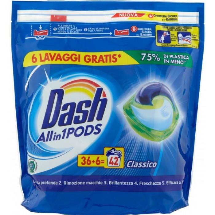 Detergent pernute Dash clasice 42 buc 1134 g