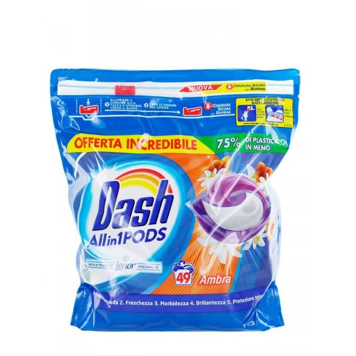 Detergent pernute Dash chihlimbar 49 buc 1293 g