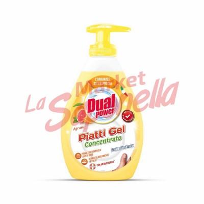 Detergent de vase gel concentrat cu citrice DUAL POWER PROFESSIONAL 1000 ml