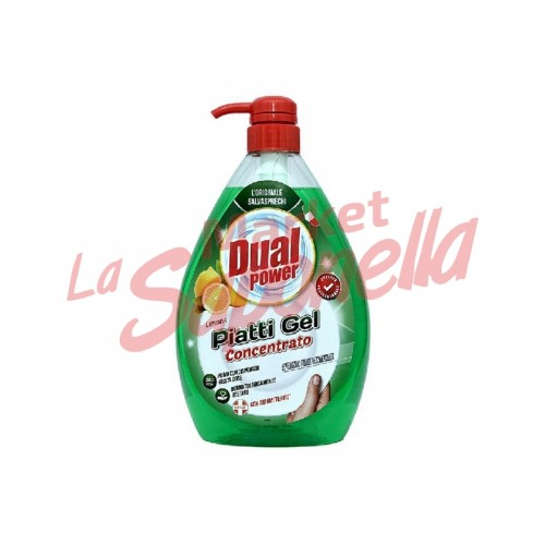 Detergent de vase Dual Power Profesional gel cu lamaie 1000ml-250 spalari