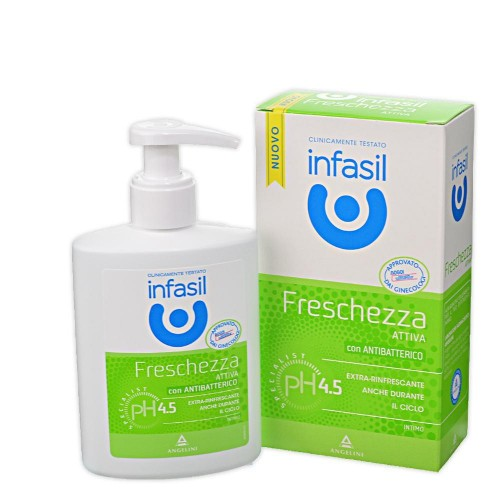 Detergent intim Infasil prospetime activa cu antibacterian natural 200 ml