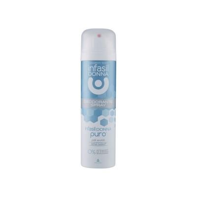 Antiperspirant Infasil Donna spray Puro piele sensibila 150 ml