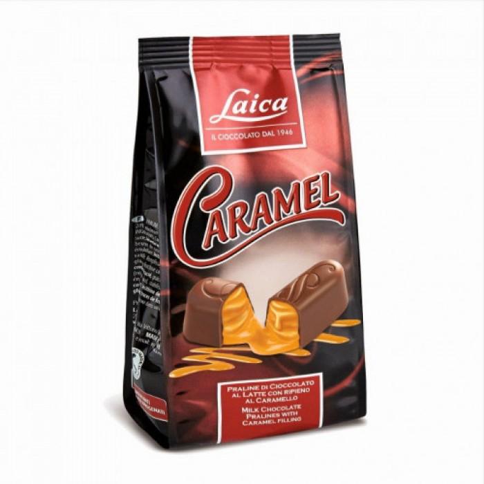Praline de ciocolata cu lapte Laica cu umplutura de caramel 90gr