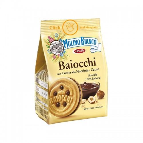 Biscuiti Mulino Bianco cu crema de alune si cacao Baiocchi 260gr