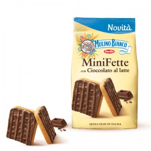 Paine prajita Mulino Bianco cu ciocolata si lapte 110gr