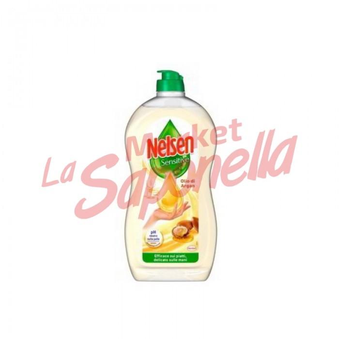Detergent de vase Nelsen sensitive cu ulei de argan  900 ml