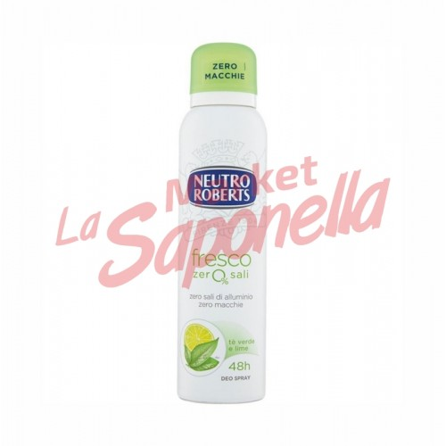 Antiperspirant Neutro Roberts spray ceai verde si lime 150 ml