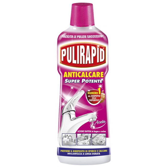 Solutie eliminare calcar, murdarie si rugina Pulirapid cu otet natural 500 ml