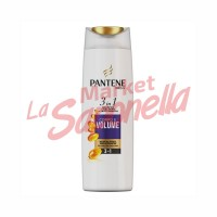 Pantene sampon 3 in 1corp si volum -225ml