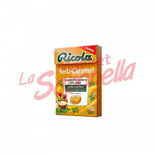 Bomboane Ricola elvetiene cu ierburi cu caramel fara zahar 50 gr