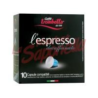 Cafea Trombetta Espresso Decofeinizat 55g 10 capsule