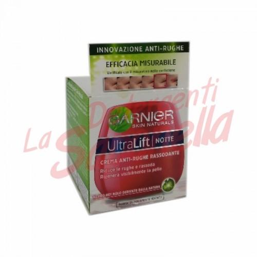 Crema de noapte Garnier anti-riduri pentru fermitate Ultra Lift cu pro-retinol varsta: 35 + /  50 ml