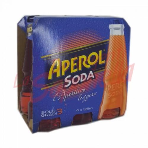 Aperitiv putin alcoolic Aperol Soda 6X125 ml
