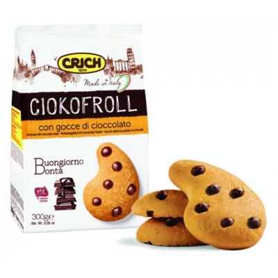 Biscuiti cu bucati de ciocolata Crich Ciokofroll 300gr