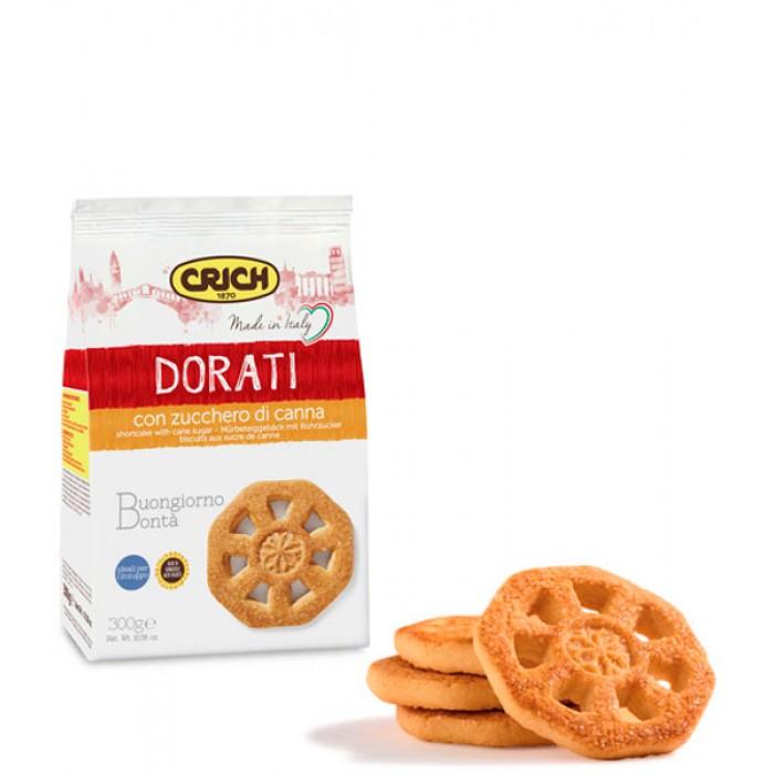 Biscuiti Crich Dorati cu trestie de zahar 300gr