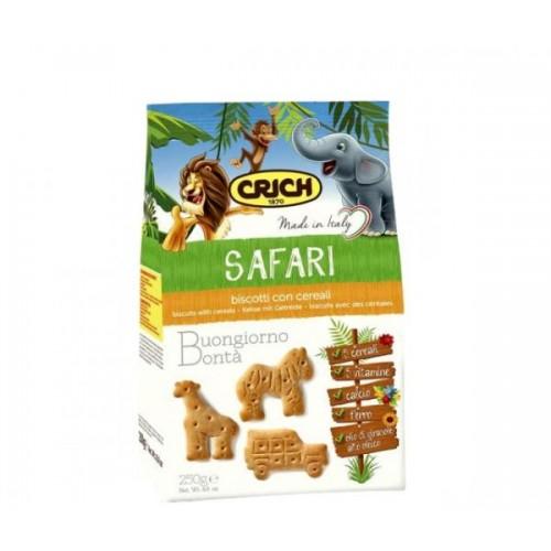 Biscuiti cu cereale Crich Safari 250gr