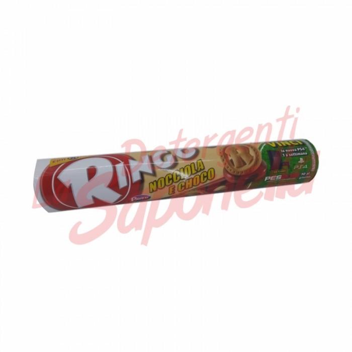 Biscuiti Ringo umpluti cu crema de ciocolata si alune 155 gr