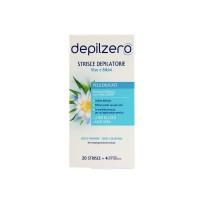 Benzi depilatoare Depilzero fata si bikini cu flori de lotus si aloe vera 20 benzi+4 servetele post-depilare