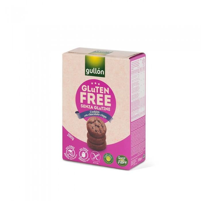Biscuiti Gullon cu bucati de ciocolata fara gluten 200 gr
