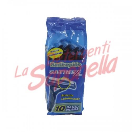 Aparate de ras Satinex cu banda lubrifianta- 10 bucati