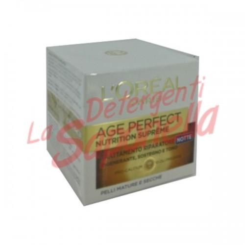 Crema de noapte L'oreal reparatoare cu pro-calciu si 10 uleiuri pretioase pentru piele matura si uscata varsta: 60+ L'oreal 50 ml
