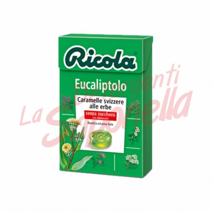 Bomboane Ricola elvetiene cu eucalipt fara zahar 50 gr
