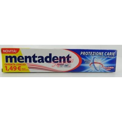 Pasta de dinti Mentadent pentru protectie carii cu fluor activ si microcalciu activ 75 ml
