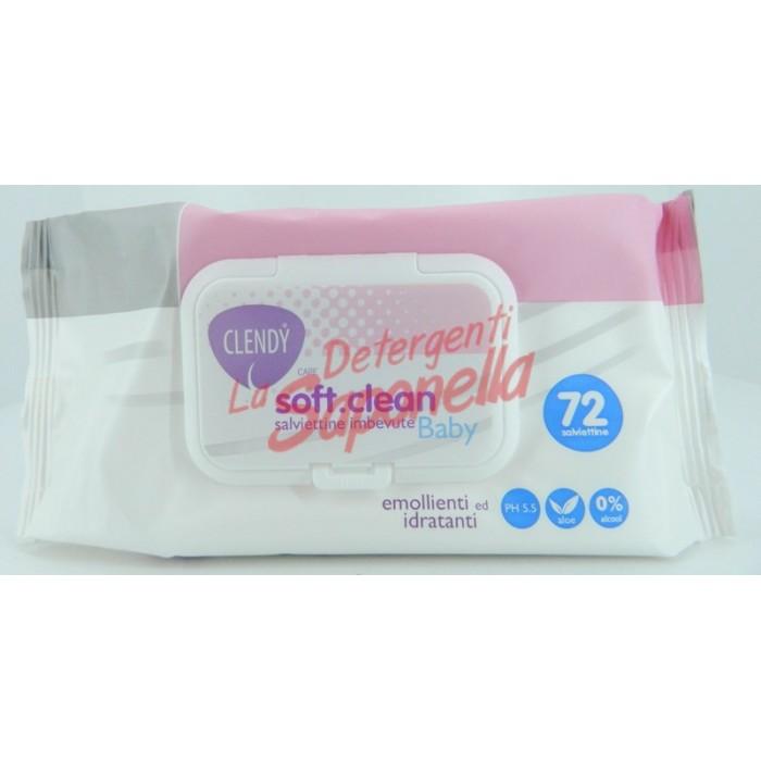 Servetele umede Clendy Soft Clean pentru copii emoliente si hidratante- 72 bucati