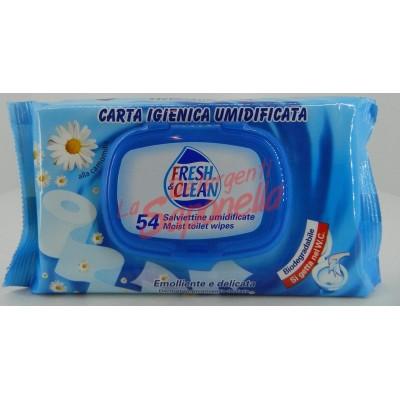 Servetele umede Fresh&Clean emoliente si delicate cu musetel biodegradabile-54 bucati
