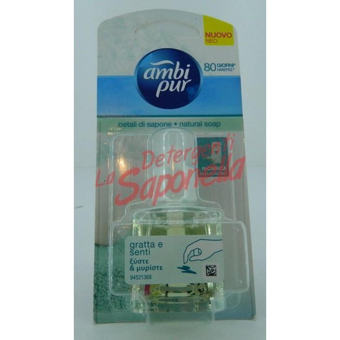 Rezerva odorizant camera Ambi Pur pentru aparatul electric petale de sapun 20 ml