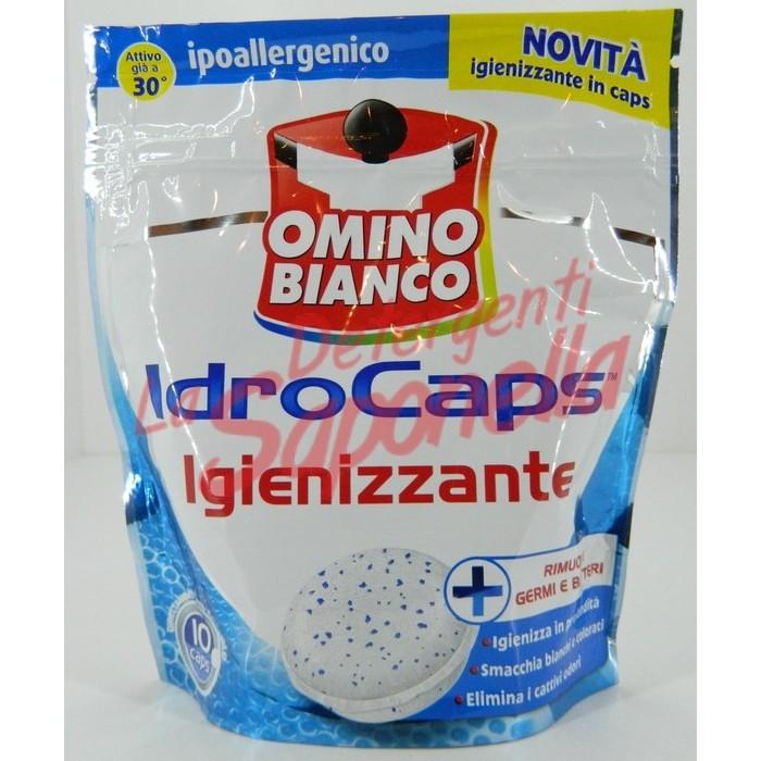 Aditiv capsule Omino Bianco pentru pete si igienizare  200 gr-10 capsule